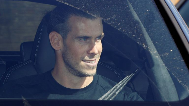 Bale arrived in London on Friday ahead of his official return to Tottenham.