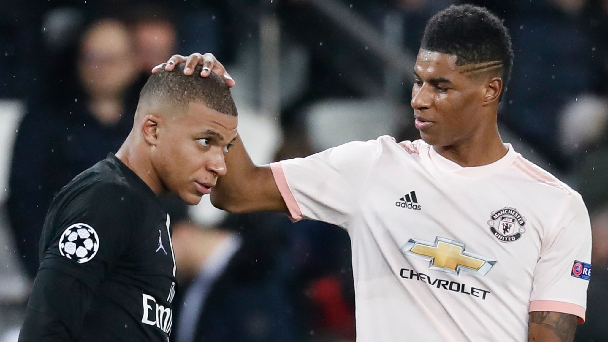 Kylian Mbappe (left) and Marcus Rashford are two of Europe's most exciting young players