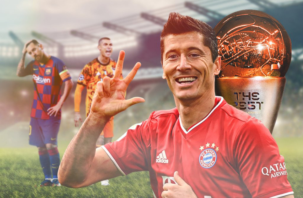 Bayern Munich striker Robert Lewandowski has beaten two of the greatest players in history in Lionel Messi and Cristiano Ronaldo to win the FIFA Best Men's Player award tonight.