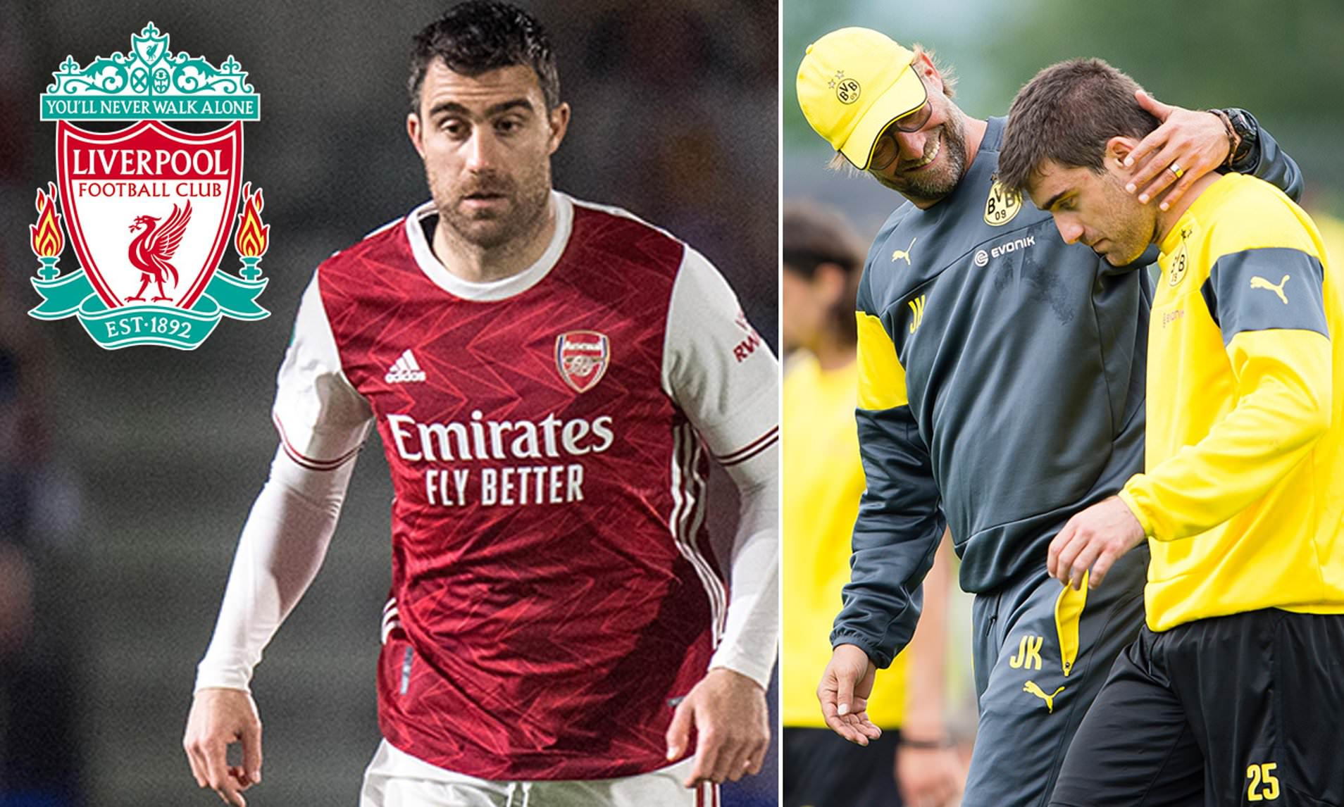 Liverpool 'have made contact with former Arsenal defender Sokratis'